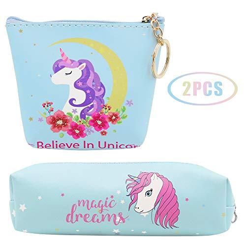 JUSTIDEA 1 monedero Unicornio Magic 1 unicornio estuche
