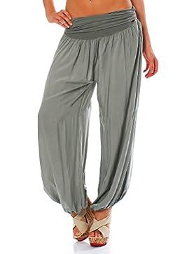 Malito Bombacho Aladin Harem Pantalón Boyfriend Baggy Yoga 1482 Mujer Talla Única