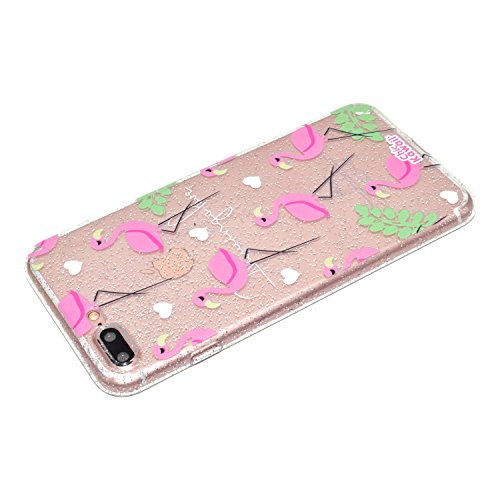 ARTLU® Coque iPhone 8 Plus / iPhone 7 Plus Motif Fleur Silicone TPU Housse de Protection Fine Silicone Soft Case Cas Clair Beau Motif Original Coque Flexible Ultra Mince Housse Anti-choc Etui Case--A1 A8