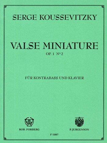Valse miniature, op. 1,2 - Bass and Piano - Buch