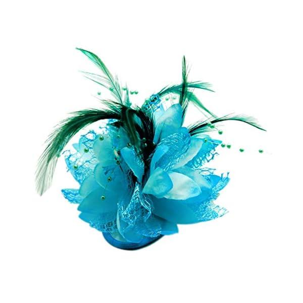 Baoblaze Flor de Seda de Perla para Ramillete, Broche, Muñeca, Fascinador DIY