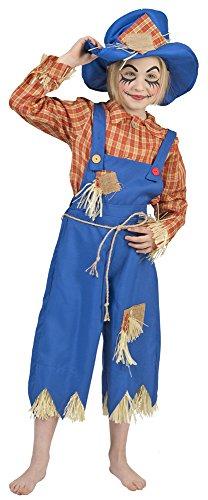 Kostüm für Kinder Gr. 116 (Stroh Hut Vogelscheuche Kostüm)
