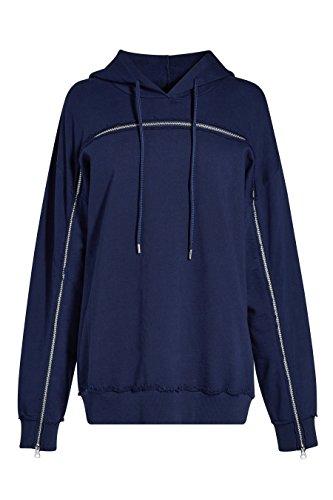 next Femme Sweat-Shirt Zippé Bleu