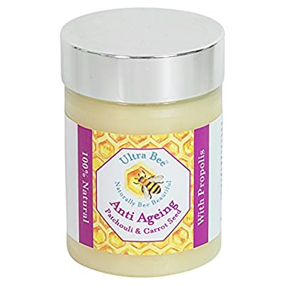 100% Natural Anti Ageing Face Moisturiser with Honey,Patchouli, Carrot Seed & Jojoba 100ml