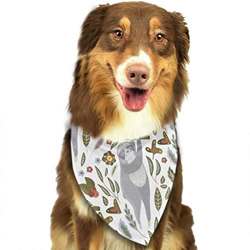 Hipiyoled Weißes Hintergrund-Muster-stilvolle Nette lustige Party-Mädchen-Jungen-Hundebandana modern