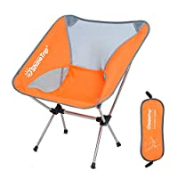 Keyobesa Folding Chairs Multifunctional Compact Durable Outdoor Ultralight Portable Heavy Duty Camping Foldable Chairs for Camping Outdoor - Orange