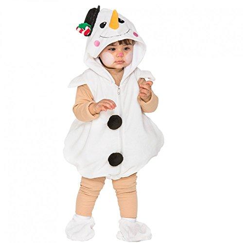 Kostüm kleiner Schneemann Gr. 80/86 Kinderfasching Kleinkind Eiszeit (Kostüme Babys Für Olaf)