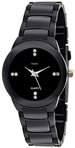 Kitcone Jewellery Bracelet Black Belt Women's Watch -Type-CC78