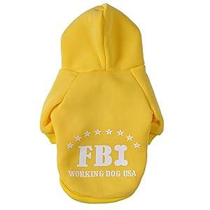 Fashion Vêtements/Manteau/Veste/Capuche avec Dessin FBI pour Petit Chien et Chiot
