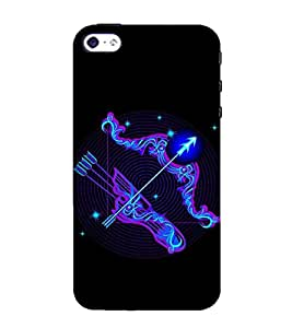 Ifasho Zodiac Sign Sagitarius Back Case Cover For Apple Iphone 4