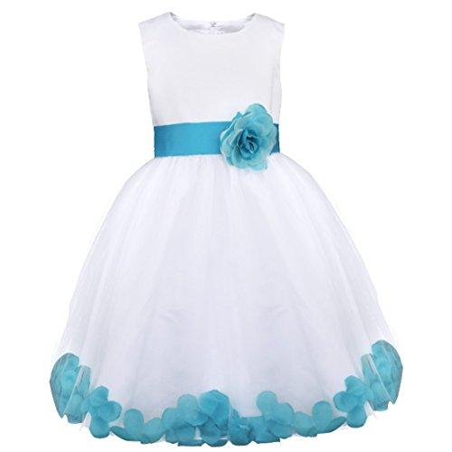 YiZYiF Mädchen Kleid Prinzessin Kleid Partykleid Festlich Hochzeits Blumenmädchen Kleider 92 98...