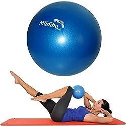 Msd BALÓN 26 CM SUAVE +2 Tapas +Paja de Pilates Gimnasia Yoga Gym suave OVER BOLA BLU