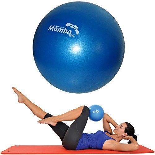 Msd PALLA 26 CM MORBIDA +2 Tappi +Cannuccia Pilates Ginnastica Yoga Gym SOFT OVER BALL BLU