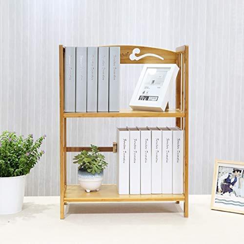 JIAJU Kleine Desktop Bücherregal Organizer 2-Tier Regal Bambus Kinder Bücherregal Kinder Spielzeug Ablage Regal Spielzeug Pflanzen Bücherregal Home Küche Büro Schlafzimmer Badezimmer Indoor (Kinder-spielzeug-organizer-ablagen)
