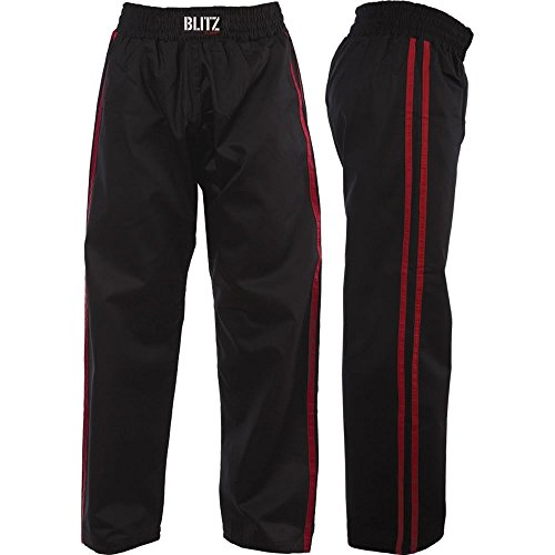 Blitz Sport Adult Classic Polycotton Full Contact Trousers 6/190cm Black / Red