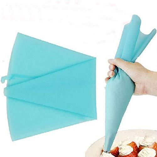 Homclo Blau Silikon Spritzbeutel für Kuchen torten cupcakes wiederverwendbares Spritzbeutel backen 31 * 17cm
