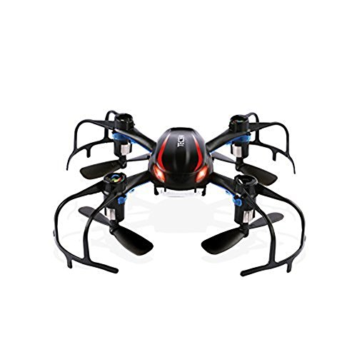 XuBa MJX X902 Mini RC Drone Helicóptero, 2.4GHz Radio Control RC Quadcopter, 4CH 6 Axis Gyro, 3D-Rolling 3D y LED Night-Lights - Negro Halloween para niños