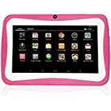 YJYdada 7inch Quad Core HD Tablet For Kids Android 4.4 KitKat Dual Camera WiFi Bluetooth (Hot Pink)
