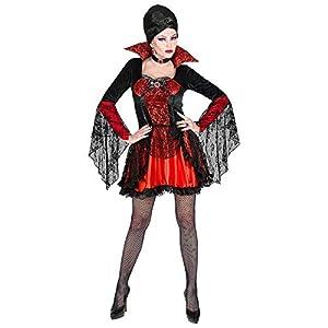 WIDMANN Disfraz Vampiresa Tamaño Completo S Ronda adultos traje de cuello 617