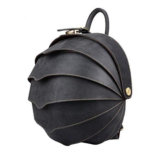 LXDDJsl Damen Handtasche Rucksack Herren Damen Rucksack Outdoor Reisetasche Stereo Schultertasche Student Bag Brusttasche 25,4 cm Schwarz