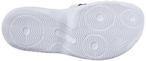 Adidas Superstar 3G Slide Sandalo, nero / argento / grigio, 5 M Us White / Black / Silver