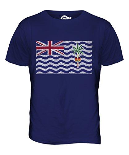 CandyMix Britisches Territorium Im Indischen Ozean Kritzelte Flagge Herren T Shirt Navy Blau