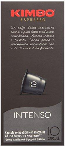 Kimbo Capsule Intenso Compatibili Nespresso, 12 Astucci da 10 Capsule (tot 120 capsule)