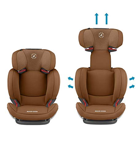 Maxi-Cosi RodiFix AirProtect Child Car Seat, Isofix Booster Seat, Cognac, 15-36 kg Maxi-Cosi Booster car seat for children from 15-36 kg (3.5 to 12 years) Grows along with your child thanks to the easy headrest and backrest adjustment from the top Patented air protect technology for extra protection of child's head 3