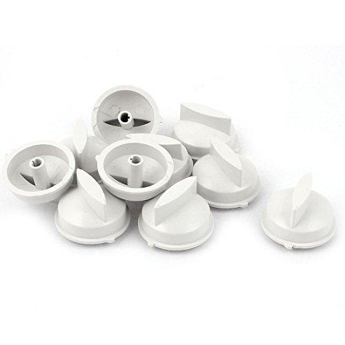 Weiß Timer Knob (10pcs 6mm Innendurchmesser Waschmaschine Drehen Timer Knob Weiß)
