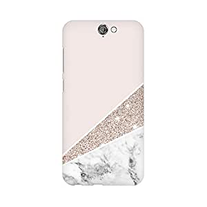 Mobicture Pink White Marble Fusion Premium Printed High Quality Polycarbonate Hard Back Case Cover for HTC One A9 With Edge to Edge Printing