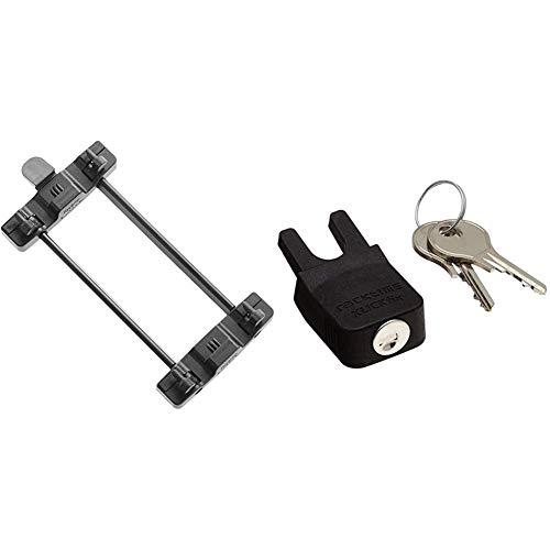 Racktime Gepäckträger Adapter Snap-it Sytem, schwarz, One Size & Schloss Secure-it, schwarz, One Size