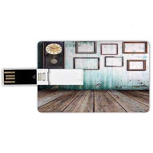 64GB Forma Tarjeta crédito Unidades Flash USB Reloj