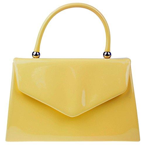 fi9® - Cartera de mano para mujer Amarillo amarillo