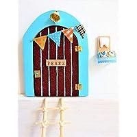 Puerta Ratoncito Perez con escalera * ¡¡SE ABRE!! * Azul, rosa o verde ELIGE COLOR * Artesanal * PUERTA RATON PEREZ