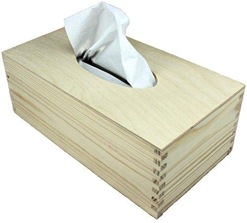 Madera caja de pañuelos por net4client ® Buena calidad funda para caja de pañuelos rectangular caja de pañuelos soporte para toallitas