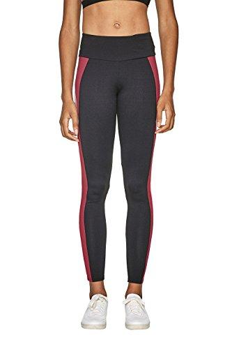 ESPRIT Sports Damen 107EI1B004-E-Dry Colourblock Sport Leggings, Schwarz (Black 001), 38 (Herstellergröße: M)
