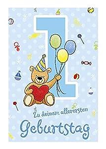 Depesche 5698.001Tarjeta de felicitación con música, 1. Cumpleaños, Azul