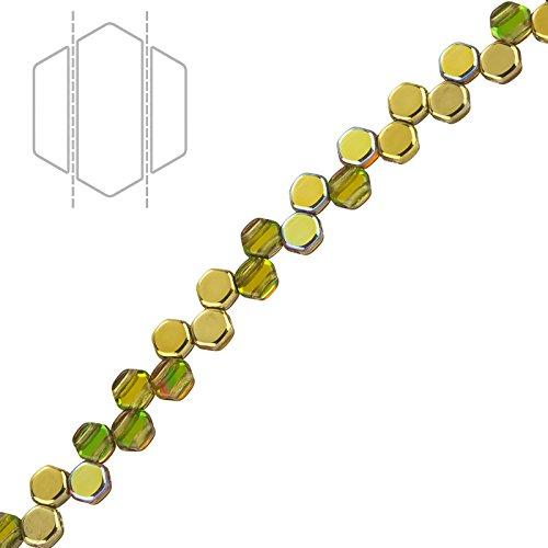 A nido d' ape in vetro ceco Perline Oro Arcobaleno 6mm Pk30 - Progettazione Gioielli D'oro