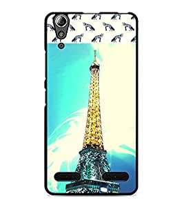 PrintDhaba Tower D-4842 Back Case Cover for LENOVO A6000 (Multi-Coloured)