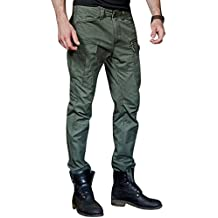 YOUJIA Hombres Pantalones de cargo Mezcla de algodón Militares Casual Pantalones