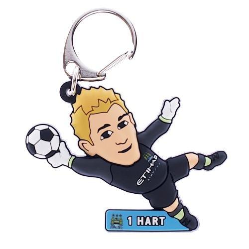Manchester City F.C. Hart- PVC Schlüsselanhänger Joe-Hart-PVC Schlüsselanhänger mit ca. 60 mm x 35 mm, in blister, Aufstellfunktion, offizielles Lizenzprodukt Chelsea Fc Cufflinks