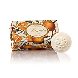 Fiorentino – Arancia – Jabón Naranja, redondo, 6 pastillas de 50 g, Jabón italiano hecho a mano de Fiorentino, con…