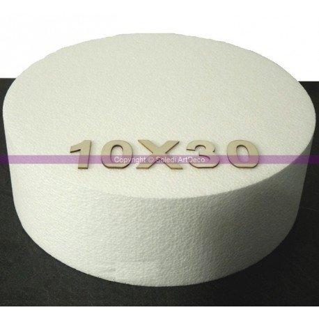 Lealoo Disque épaisseur 10 cm, diamètre 30 cm, polystyrène Pro Haute densité, 28 kg/ m3