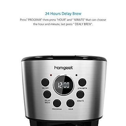 Homgeek-Kaffeemaschine-12-Tassen-Kaffee-Maker-mit-Automatische-Abschaltung-Warmhalteplatte-Filterkaffeemaschinen-mit-Timer-Glaskanne-Dauerfilter-Tropfstopp