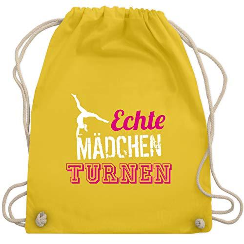 Sonstige Sportarten - Echte Mädchen turnen - Unisize - Gelb - WM110 - Turnbeutel & Gym Bag