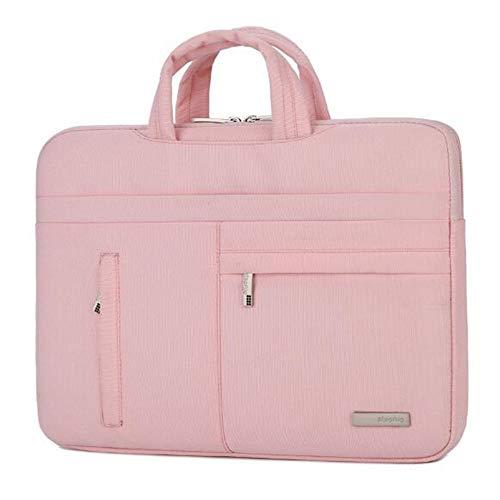 Rosa Junior Handtaschen (Handle Handtasche Grosse Kapazität Lässige Tote Schulter Laptop-Arbeitstaschen Notebook-Tasche Computer-Tasche Handtasche wasserdichte Innentasche rosa 14 Zoll)