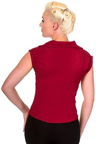 Banned Bluse Dream Master Shirt 1032 Bordeaux