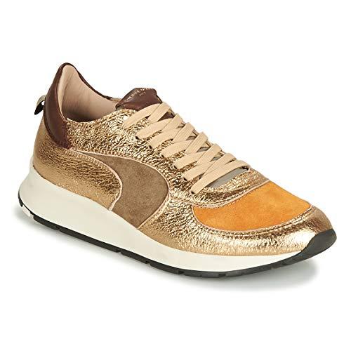 Philippe Model Montecarlo Sneaker Damen Gold/Kaki/Gelb/Senf - 38 - Sneaker Low -