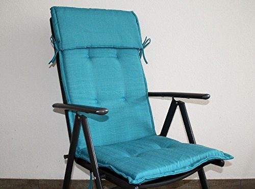 Amazing Cheap Gartenstuhl Auflage Sunny Comfort Iceblau Hochlehner Mit Cm  Dicker With Auflagen Fr Gartensthle With Fr Gartensthle
