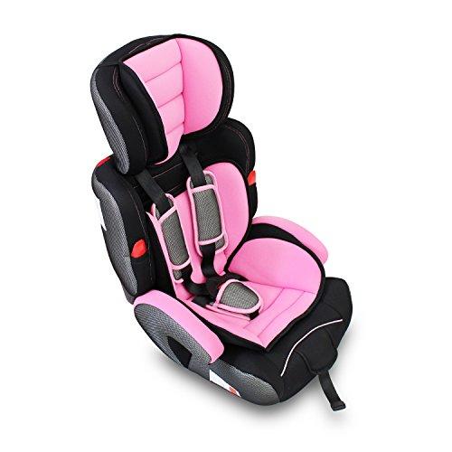 Todeco - Siège Auto pour Bébé et Enfant, Siège Auto Rehausseur - Standards/Certifications: ECE R44 / 04 - Rose, De 9 à 36 kg